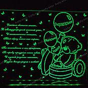 Открытки ручной работы. Ярмарка Мастеров - ручная работа Сувенир Мишка с шариками. Handmade.
