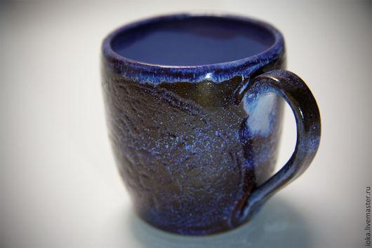 Кружки и чашки ручной работы. Ярмарка Мастеров - ручная работа. Купить Космос - млечный путь.... Handmade. Тёмно-синий