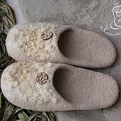 """Обувь ручной работы. Ярмарка Мастеров - ручная работа Тапочки """"Безмятежность-2"""". Handmade."""