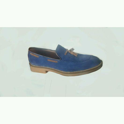 """Обувь ручной работы. Ярмарка Мастеров - ручная работа. Купить Мужские лоферы """"Целнокройный СП"""". Handmade. Мужская обувь"""