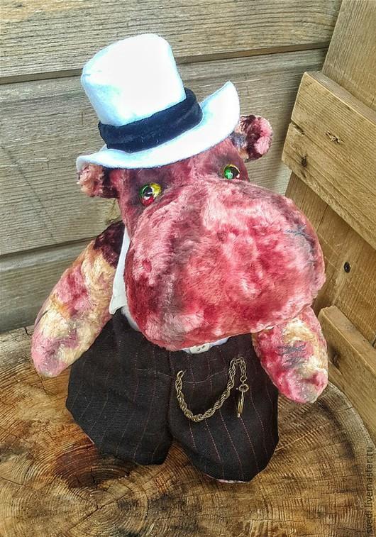 """Мишки Тедди ручной работы. Ярмарка Мастеров - ручная работа. Купить Бегемотик тедди """" Рио-де-Жанейро"""". Handmade."""