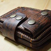 Портмоне ручной работы. Ярмарка Мастеров - ручная работа Портмоне для авто-документов и денег компактный. Handmade.