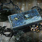 Для дома и интерьера handmade. Livemaster - original item Box-copernica Winter`s tale. Decoupage. Handmade.