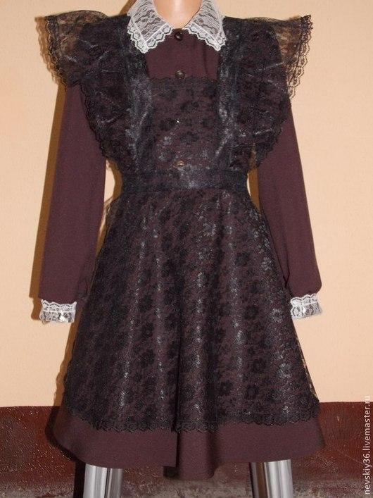 Одежда для девочек, ручной работы. Ярмарка Мастеров - ручная работа. Купить школьная форма ссср. Handmade. Коричневый, первый звонок