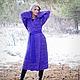 Верхняя одежда ручной работы. Ярмарка Мастеров - ручная работа. Купить Вязаное пальто Фиалка, летнее пальто, кардиган. Handmade.