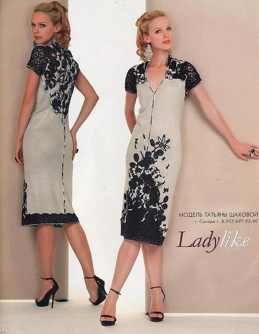 """Платья ручной работы. Ярмарка Мастеров - ручная работа. Купить платье  вязаное """"белые ночи"""". Handmade. Чёрно-белый"""