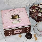 """Для дома и интерьера ручной работы. Ярмарка Мастеров - ручная работа Шкатулка-короб для чая """"Десерт!"""". Handmade."""