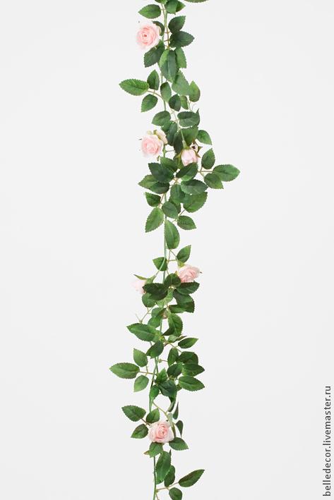Материалы для флористики ручной работы. Ярмарка Мастеров - ручная работа. Купить Гирлянда из розовых роз, 160 см 2194-20. Handmade.
