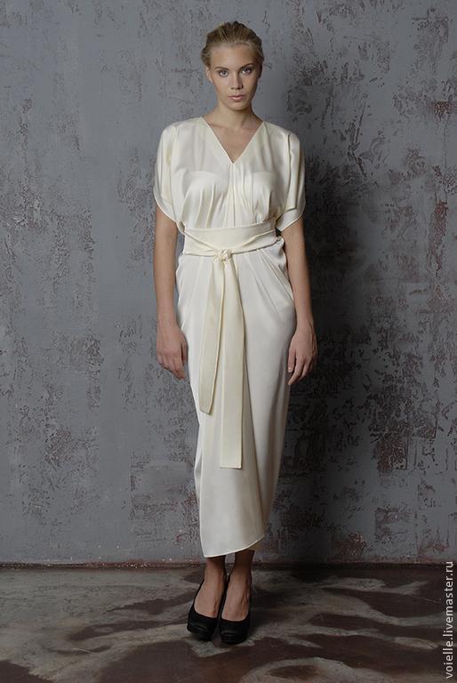 Платье длинное в пол белое из атласа, платье нарядное, свободного кроя, комфортное, удобное, свадебное платье шёлковое платье для беременных свободного кроя больших размеров