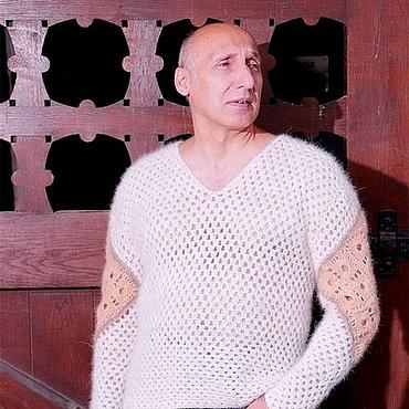 Одежда ручной работы. Ярмарка Мастеров - ручная работа Пуловер  «Витязь» из собачьей шерсти. Handmade.