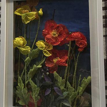 Картины и панно ручной работы. Ярмарка Мастеров - ручная работа Фотокартины: Маки. Handmade.