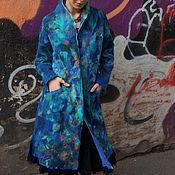 Одежда ручной работы. Ярмарка Мастеров - ручная работа пальто легкое шелковое валяное из мериноса. Handmade.