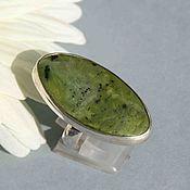 Украшения handmade. Livemaster - original item Ring with serpentine. Silver. Handmade.