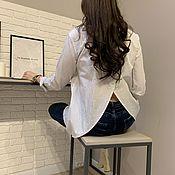 Блузки ручной работы. Ярмарка Мастеров - ручная работа Рубашка из хлопка brioni. Handmade.