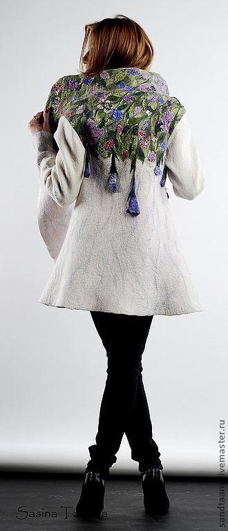 """Верхняя одежда ручной работы. Ярмарка Мастеров - ручная работа. Купить Пальто """"Италия"""". Handmade. Цветочный, цветы, весна"""