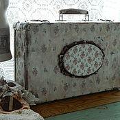 Для дома и интерьера ручной работы. Ярмарка Мастеров - ручная работа Чемодан бабушкины ситцы. Handmade.