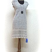 """Одежда ручной работы. Ярмарка Мастеров - ручная работа Льняное платье """"Ажур"""". Handmade."""