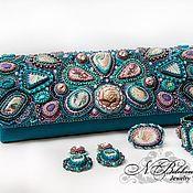 Сумки и аксессуары handmade. Livemaster - original item Clutch emerald with Jasper oceanic. Handmade.