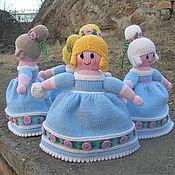 Куклы и игрушки ручной работы. Ярмарка Мастеров - ручная работа Вязаные куклы из шерсти Парад принцесс. Handmade.