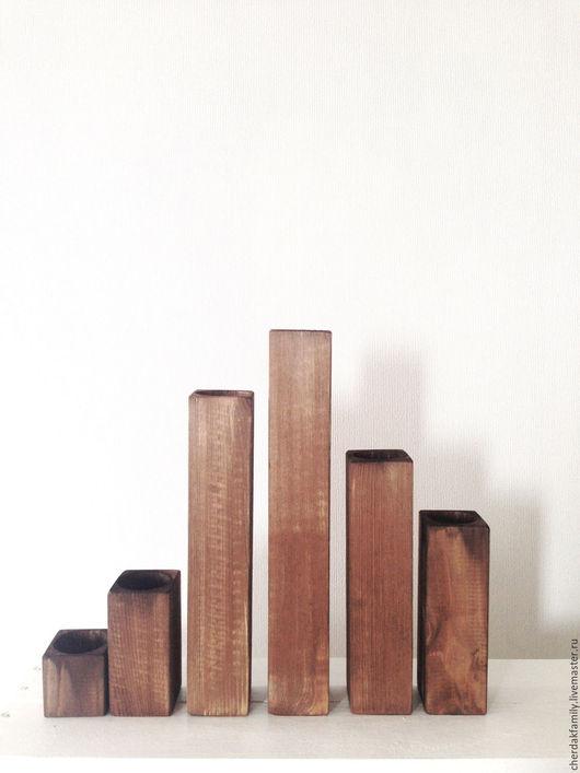 Освещение ручной работы. Ярмарка Мастеров - ручная работа. Купить Деревянный подсвечник. Handmade. Коричневый, свет, бохо, декор для интерьера