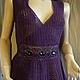 Мистический фиолетовый, ажурный, нарядный топ с женственной баской достаточно вместительный для женского бюста и более чем скромного размера...