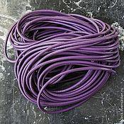 Шнуры ручной работы. Ярмарка Мастеров - ручная работа Шнуры кожаные, круглые, толщиной 3 мм разного цвета. Handmade.