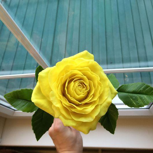 Цветы ручной работы. Ярмарка Мастеров - ручная работа. Купить Роза. Handmade. Полимерная глина, реалистичные цветы, цветы