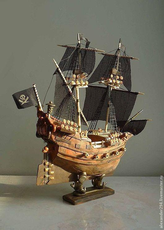 Статуэтки ручной работы. Ярмарка Мастеров - ручная работа. Купить Кораблик-2. Handmade. Коричневый, дерево