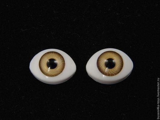 """Куклы и игрушки ручной работы. Ярмарка Мастеров - ручная работа. Купить 12х17мм Глаза кукольные (золотистые) 2шт. """"2624"""". Handmade."""