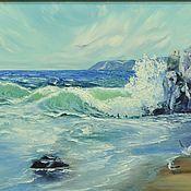 """Картины ручной работы. Ярмарка Мастеров - ручная работа Картина маслом морской пейзаж 55/70 """"Стихия моря"""". Handmade."""