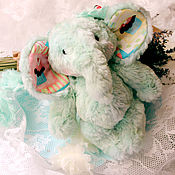Куклы и игрушки ручной работы. Ярмарка Мастеров - ручная работа Мятный Леденец - летний слон. Handmade.