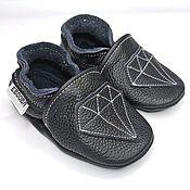 Одежда детская handmade. Livemaster - original item Diamond Baby Shoes, Ebooba, Black Baby Moccasins,Soft Sole Baby Shooes. Handmade.