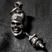 """Аксессуары ручной работы. Ярмарка Мастеров - ручная работа темлячная бусина - брелок  """"Duся"""". Handmade."""