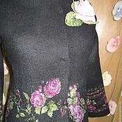 """Одежда ручной работы. Ярмарка Мастеров - ручная работа Валяный костюм """"Розы на черном"""". Handmade."""