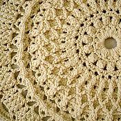 Для дома и интерьера handmade. Livemaster - original item Round knitted rug crocheted from the cord Dream-2 small. Handmade.