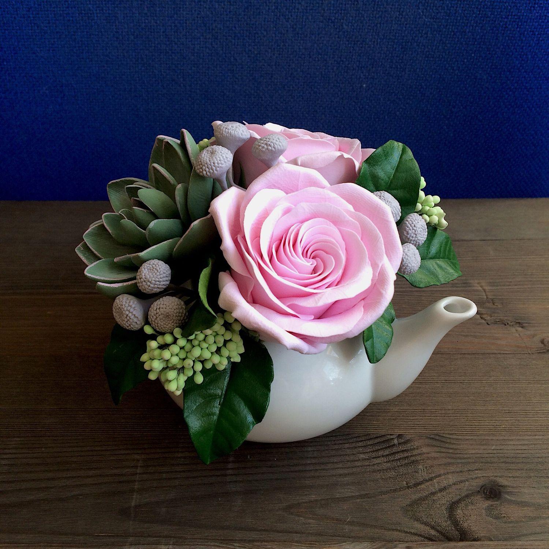 a03743d3 Букеты ручной работы. Ярмарка Мастеров - ручная работа. Купить Букет с  розами и суккулентом ...