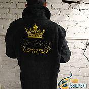 Халаты ручной работы. Ярмарка Мастеров - ручная работа Махровый халат с именной вышивкой на заказ. Handmade.