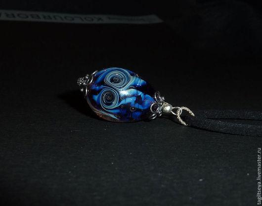Кулон lampwork - Спирали (кулон лэмпворк кулон)