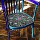 Быт ручной работы. Ярмарка Мастеров - ручная работа. Купить Кресло в Русском стиле. Handmade. Бирюзовый, разноцветный, удобный, из дерева