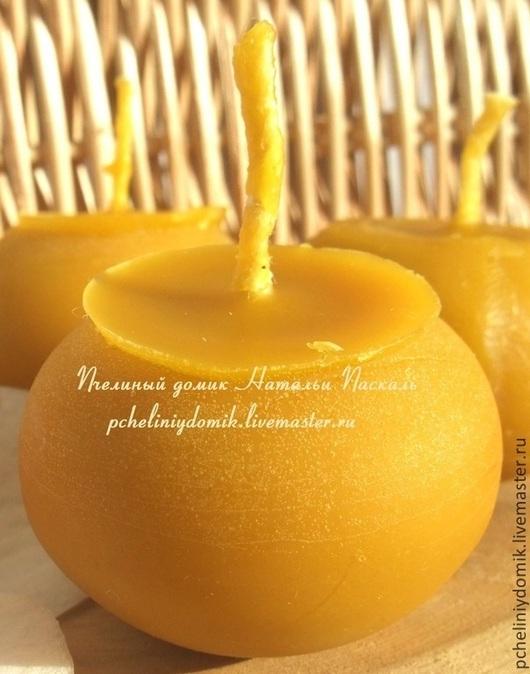 Свечи ручной работы. Ярмарка Мастеров - ручная работа. Купить Свеча из пчелиного воска Бочонок. Handmade. Желтый, восковые свечи