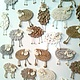 Магниты ручной работы. Ярмарка Мастеров - ручная работа. Купить Овечки-магнитики. Handmade. Год овцы 2015, фетр