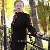 """Одежда ручной работы. Ярмарка Мастеров - ручная работа Вязаное пальто """"Модный винтаж-2"""". Handmade."""