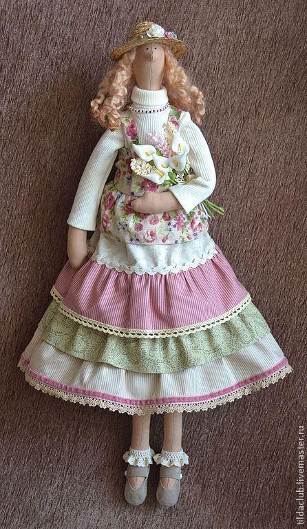 """Куклы Тильды ручной работы. Ярмарка Мастеров - ручная работа. Купить Тильда """"Весеннее настроение"""". Handmade. Тильда, кукла в подарок"""