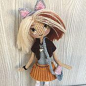 Куклы и игрушки ручной работы. Ярмарка Мастеров - ручная работа Кукла амигуруми-кошка. Handmade.