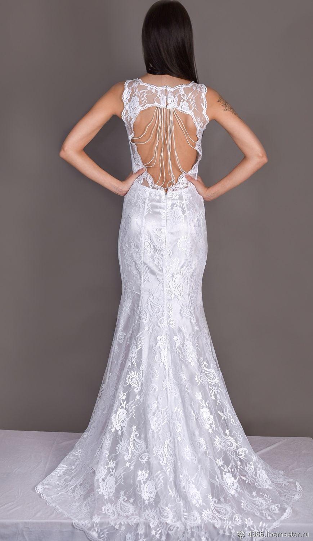 48300401a9b Белое платье с открытой спиной. Наталия Ходыкина. Ярмарка Мастеров.