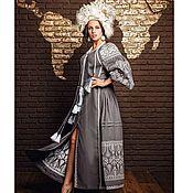 Одежда handmade. Livemaster - original item Boho dress Embroidered linen dress with long sleeve. Handmade.