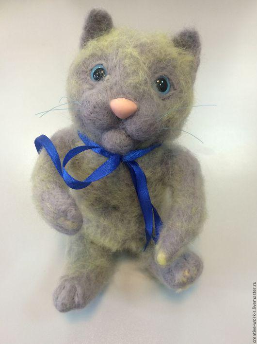 Игрушки животные, ручной работы. Ярмарка Мастеров - ручная работа. Купить Серый кот. Handmade. Серый, котик, игрушка для детей