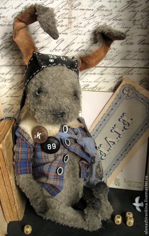 Мишки Тедди ручной работы. Ярмарка Мастеров - ручная работа. Купить Тёма. Handmade. Серый, коллекционные игрушки, кожа натуральная
