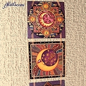 """Картины и панно ручной работы. Ярмарка Мастеров - ручная работа Панно настенное """"Звездо-лунное"""". Handmade."""