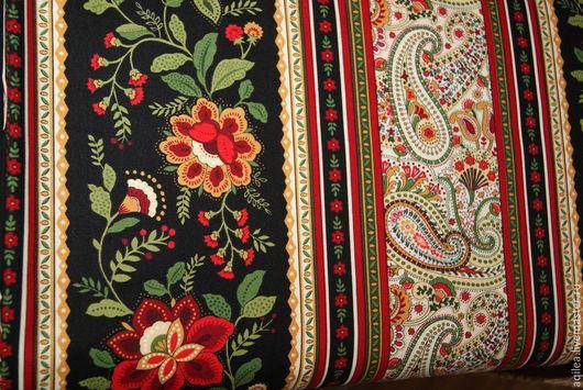 """Шитье ручной работы. Ярмарка Мастеров - ручная работа. Купить ткань   бордюрная """"Жасмин"""". Handmade. Разноцветный"""